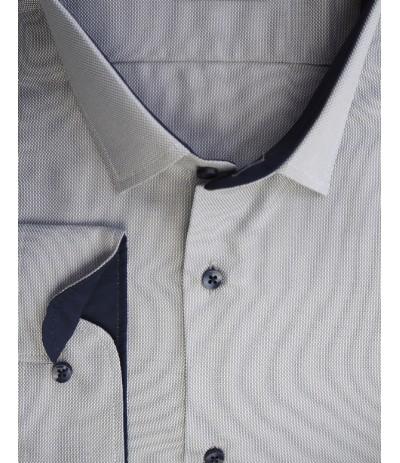 MLL-A 97 Koszula męska dł rękaw szary duże rozmiary