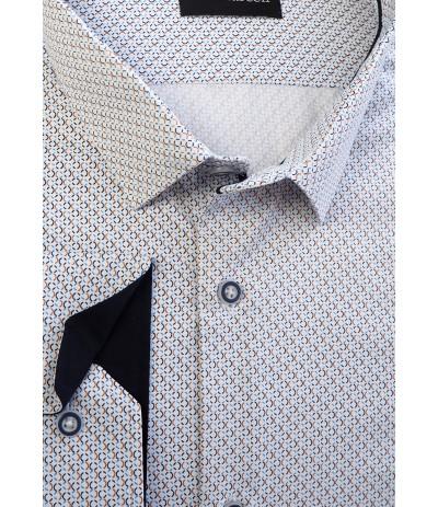MLL-A121 Koszula męska dł rękaw biały duże rozmiary