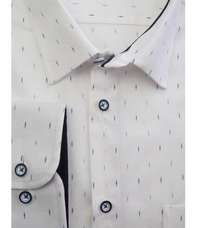 M1198W1/R Koszula męska dł rękaw biały duże rozmiary