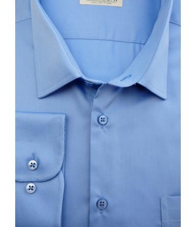 M 888/R Koszula dł rękaw niebieski duże rozmiary