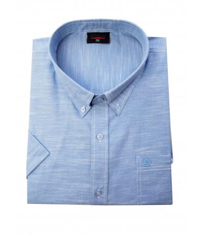 ESP 277 Koszula męska kr rękaw niebieski duże rozmiary