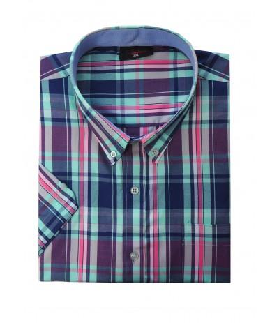 ESP 279/1 Koszula męska kr rękaw krata duże rozmiary