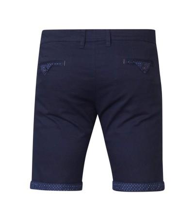 LUKE Spodnie męskie krótkie granatowe duże rozmiary