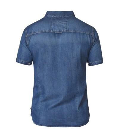MIKE Koszula męska jeansowa duże rozmiary