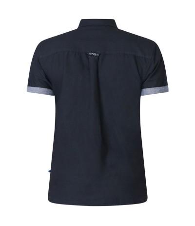 KEVIN-2 Koszula męsk kr rękaw czarna duże rozmiary