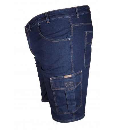 DIV 010 Spodenki bojówki jeansowy duże rozmiary