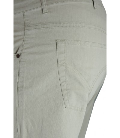 DIV 142 Spodnie bawełniane męskie beżowe duże rozmiary