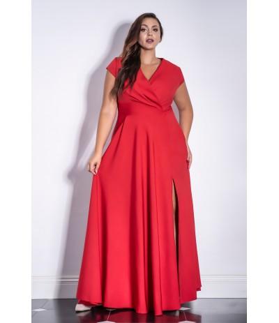 AFRODYTA Sukienka damska długa duże rozmiary