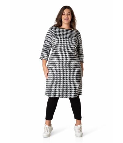 YES 32662 Sukienka damska w pepitkę duże rozmiary