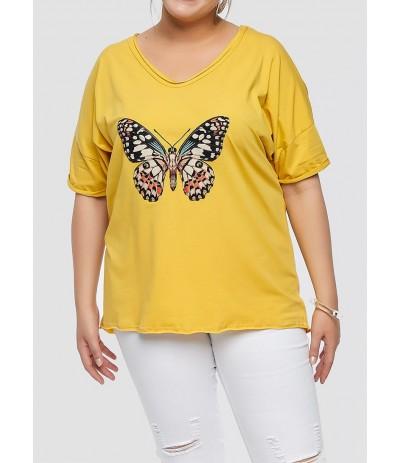 BL 1012 T-shirt damski duże rozmiary