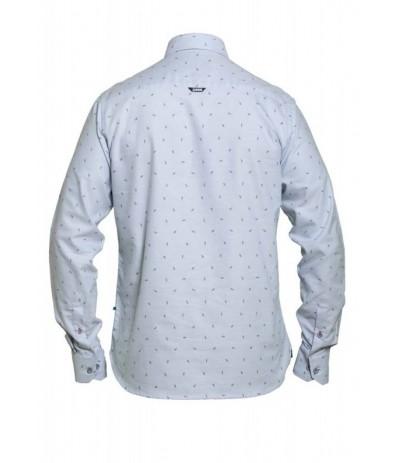 ADDINGTON Koszula męska długi rękaw niebieski duże rozmiary