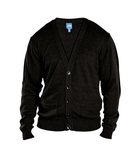 WALWORTH 1 Sweter męski rozpinany czarny duże rozmiary