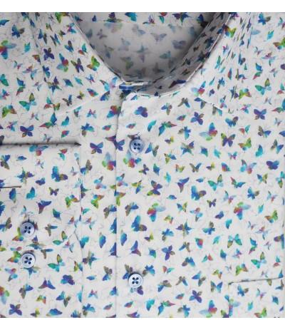 MAR 1271/R Koszla męska długi rękaw duże rozmiary