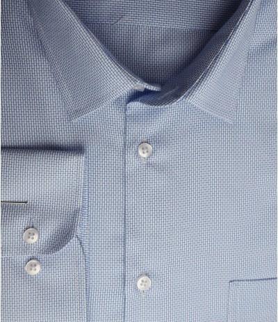 MAR 1238/R Koszla męska długi rękaw niebieski duże rozmiary