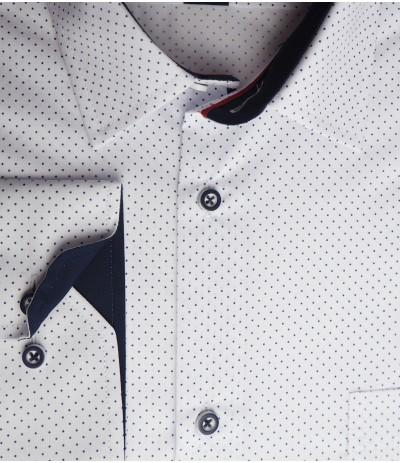MAR 953 M1/R Koszla męska długi rękaw biały duże rozmiary