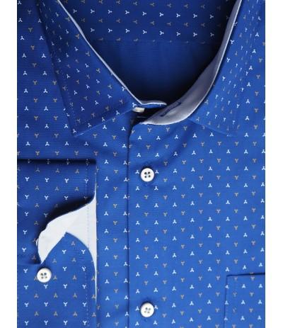 MAR 1236 SML/R Koszla męska długi rękaw niebieski duże rozmiary