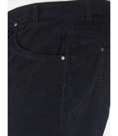 DIV 104 Spodnie męskie czarne sztruksowe duże rozmiary