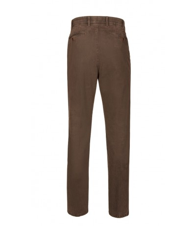 BRUHL 182310/580  Spodnie męskie chinosy brązowy  duże rozmiary