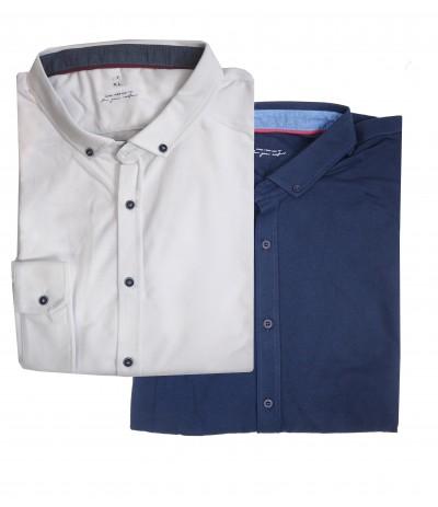 BS 1G Koszula męska rozpinana bawełna  2-kolory duże rozmiary