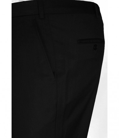 EL 290/1 Spodnie  męskie męskie na kant  czarne duże rozmiary
