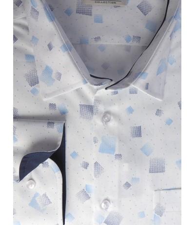 MAR 1356W Koszula męska długi rękaw biały duże rozmiary