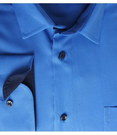 MAR 1291W Koszula męska długi rękaw niebieski duże rozmiary