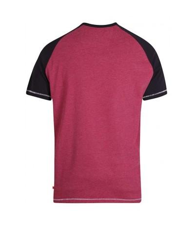 EVANS 2 T-shirt męski bordowy duże rozmiary
