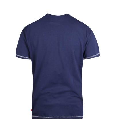 COLLINS T-shirt męski granatowy duże rozmiary