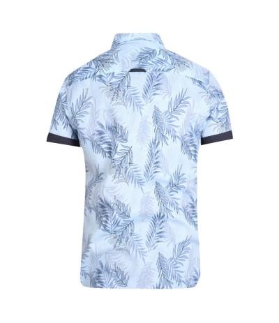 SANTANA Koszula męska krótki rękaw jasny niebieski duże rozmiary