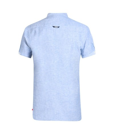 BRIXTON 2 Koszula męska krótki rękaw len jasny niebieski duże rozmiary