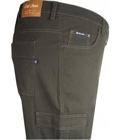 OST 234 Spodnie męskie ciemnozielony duże rozmiary