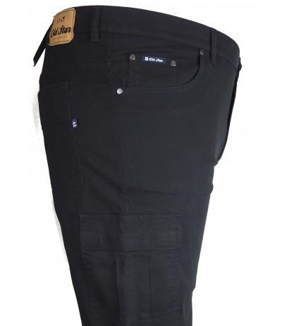 OST 154  Spodnie męskie bojówki czarne duże rozmiary