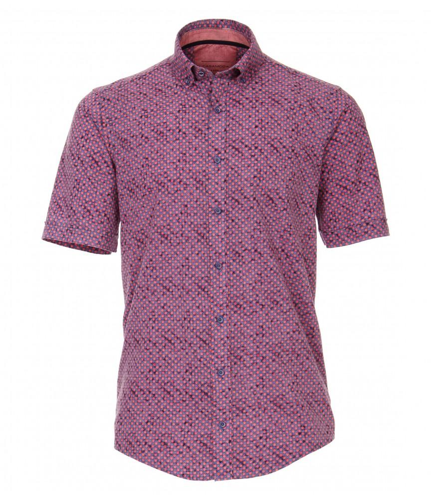 CASA 9600 Koszula męska fioletowy wzór 3XL,4XL,5XL,6XL duże  DWXw9