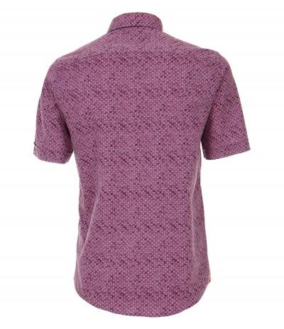 CASA 9600 Koszula męska fioletowy-wzór 3XL,4XL,5XL,6XL duże rozmiary