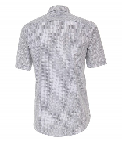 CASA 6100 Koszula męska biały-wzór 3XL,4XL,5XL,6XL duże rozmiary