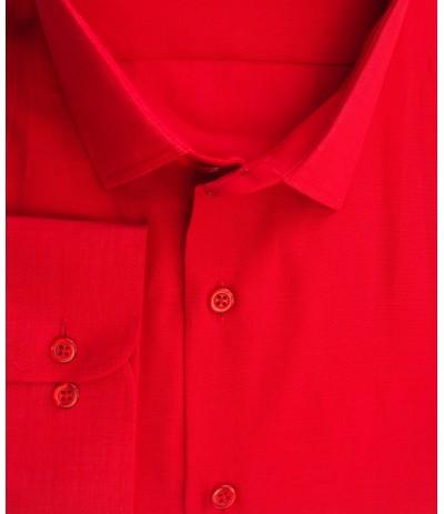 A-239 Koszula  męska długi rękaw czerwony  duże rozmiary