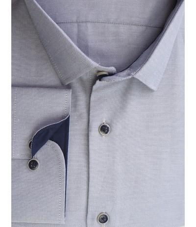A-235 Koszula męska długi rękaw szara duże rozmiary