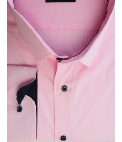 A-240 Koszula męska długi rękaw różowa duże rozmiary