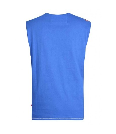 WALLACE 2 T-shirt męski bez rękawów niebieski duże rozmiary