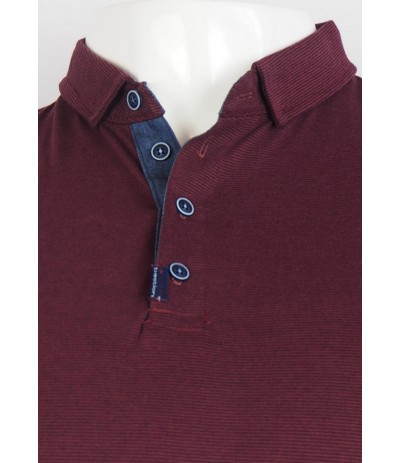 TSP GG 1 Koszulka polo bordowa duże rozmiary