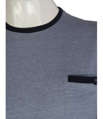 TS5 2 T-shirt męski niebieski duże rozmiary