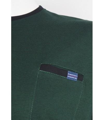 TS5 4 T-shirt męski ciemnozielony duże rozmiary