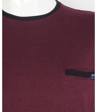 TS5 5 T-shirt męski bordowy duże rozmiary