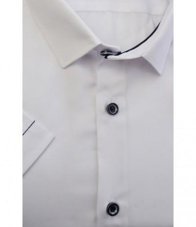 MLL A58/1 Koszula męska krótki  rękaw biały duże rozmiar