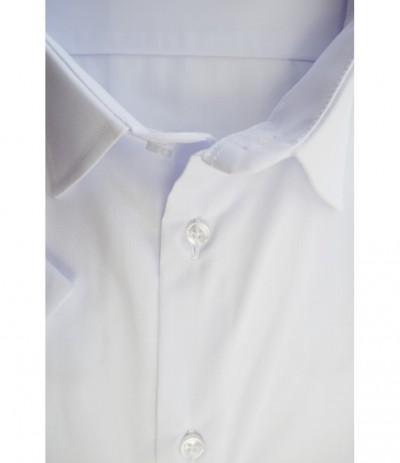 MAR 200 Koszula męska biała  krótki rękaw duże rozmiary