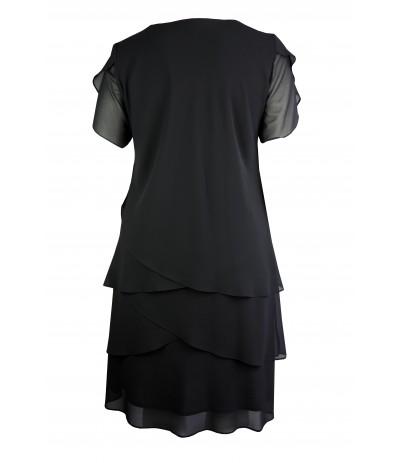ORCHIDEA Sukienka wieczorowa czarna duże rozmiary