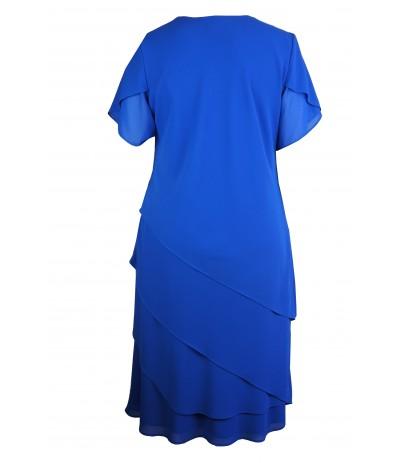 MICAELA 2 Sukienka wieczorowa chabrowa duże rozmiary