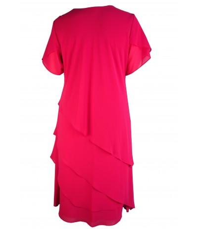 MICAELA 4 Sukienka wieczorowa amarat duże rozmiary