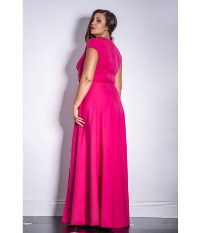 AFRODYTA  Sukienka wieczorowa długa fuksja  duże rozmiary