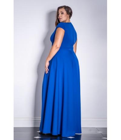 AFRODYTA Sukienka wieczorowa długa chaber duże rozmiary